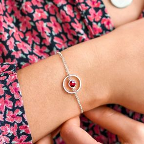 Amy Circle of Life Birthstone Bracelet