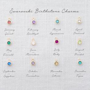 3 mm Swarovski Crystal Birthstone Charm Key Image