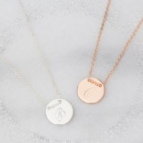 Scarlet Initial Disc Personalised Necklace