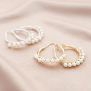 Ada Sterling Silver Freshwater Pearl Personalised Earrings