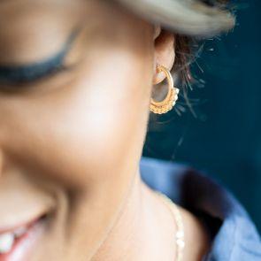 Ada Sterling Silver Ornate Personalised Earrings
