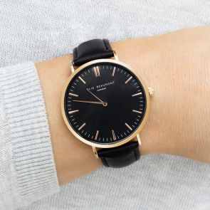 Adalene Ladies Watch with Black Strap
