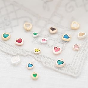Heart Shape Swarovski Crystal Birthstone Charms