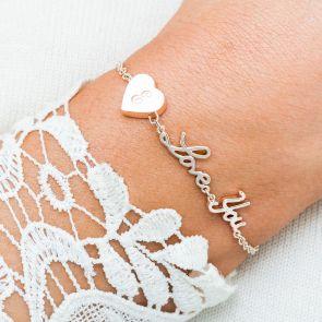 Alexis Personalised Love You Bracelet