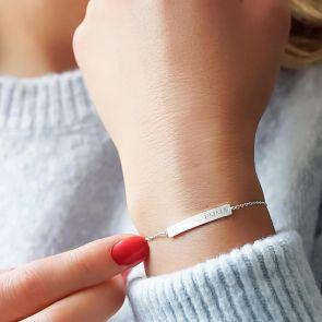Bella Personalised Bar Bracelet
