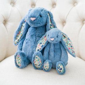 dusky blue jellycat blossom bunny