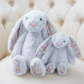 silver blossom bunny by jellycat