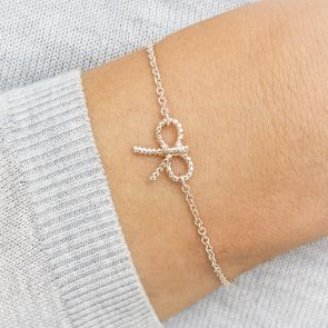 Eternity Bow Personalised Friendship Bracelet