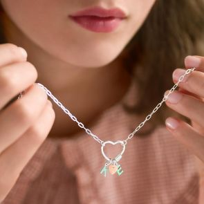 Personalised Charm Heart Pendant Necklace