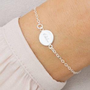 Cara Personalised Initial Disc Bracelet