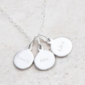 Elizabeth Engraved Charm Necklace