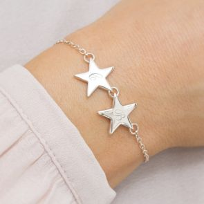 Initial Personalised Double Star Bracelet