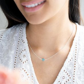 silver plated druzy necklace