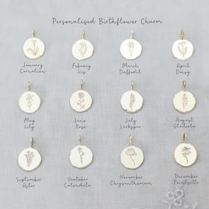 Add a Personalised Birth Flower Disc Charm