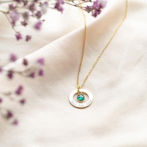 Eternal Ring and Birthstone Personalised Necklace