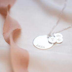 Family Disc Pendant Personalised Necklace
