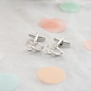 silver plated infinity cufflinks