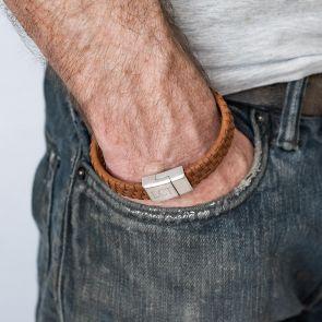 Woven lattice Strap Personalised Bracelet