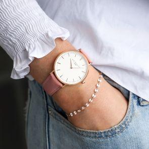 Personalised Emeline Ladies Watch And Sequin Bracelet Set