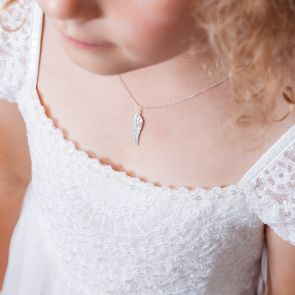 Mini Beatrix Angel Wing Sterling Necklace