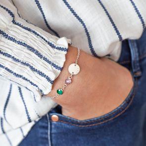 You and I birthstone bracelet