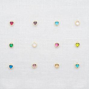 Add a Swarovski Crystal Heart Birthstone Charm
