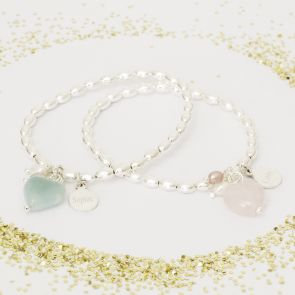 Amazonite and Rose Pink Quartz
