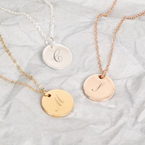 Lara Initial Disc Personalised Necklace