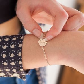 Lealia Hexagon Personalised Bracelet
