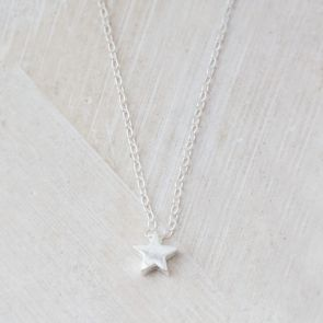 Leona Personalised Sterling Silver Star Necklace