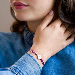 Personalised Liberty Print Charm Bracelet