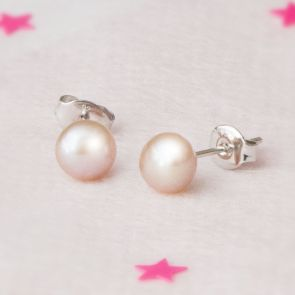 Lola Sterling Silver Pearl Earrings
