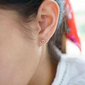 Luna Miniature Knot Earrings