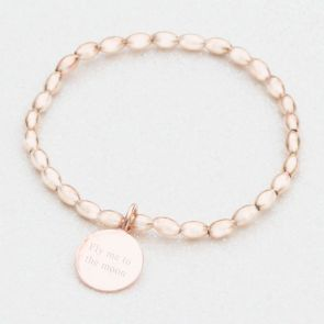 Lyra Personalised Rose Gold Bracelet