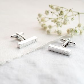 Monogram Bar Personalised Cufflinks