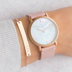 Personalised Mother Of Pearl Ladies Watch And Bar Set