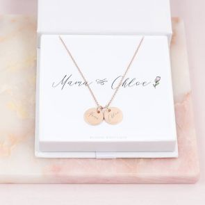 Mum And Me Double Disc Personalised Necklace