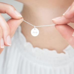 Name Pendant Personalised Necklace in Silver