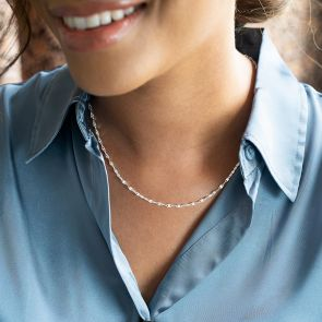 statement layering chain in silver