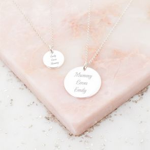 Mother And Daughter Personalised Name Necklace Set