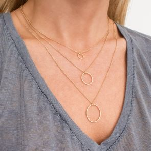 Gold Ring Layered Necklace