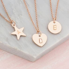 Personalised Handstamped Charm Pendant Necklace
