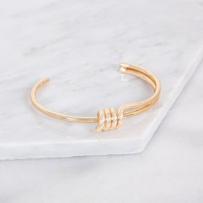 Personalised Gold Eternity Knot Cuff