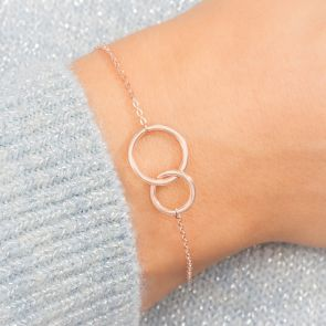 Sterling Silver Double Ring Bracelet
