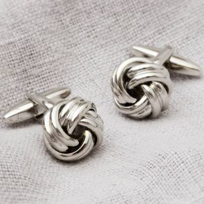 Double Knot Silver Plated Cufflinks