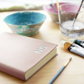 Hand Painted Leather Personalised Journal
