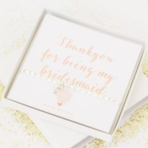 'Thank You For Being My Bridesmaid' Bracelet Gift Set