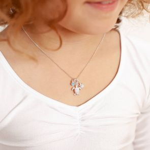 Mini Personalised Sterling Turtle Charm Necklace