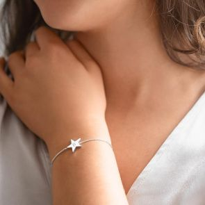 Personalised Initial Star Slider Bracelet