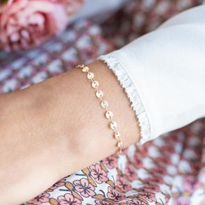 Personalised Sequin Bracelet in Champagne Gold
